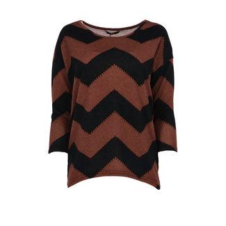Only Shirt Elcos Roestbruin/Zwart