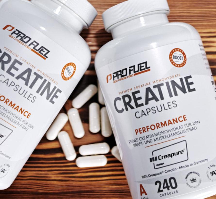 CREATINE Capsules  Kreatin-Monohydrat  100% Creapure (240 capsules)