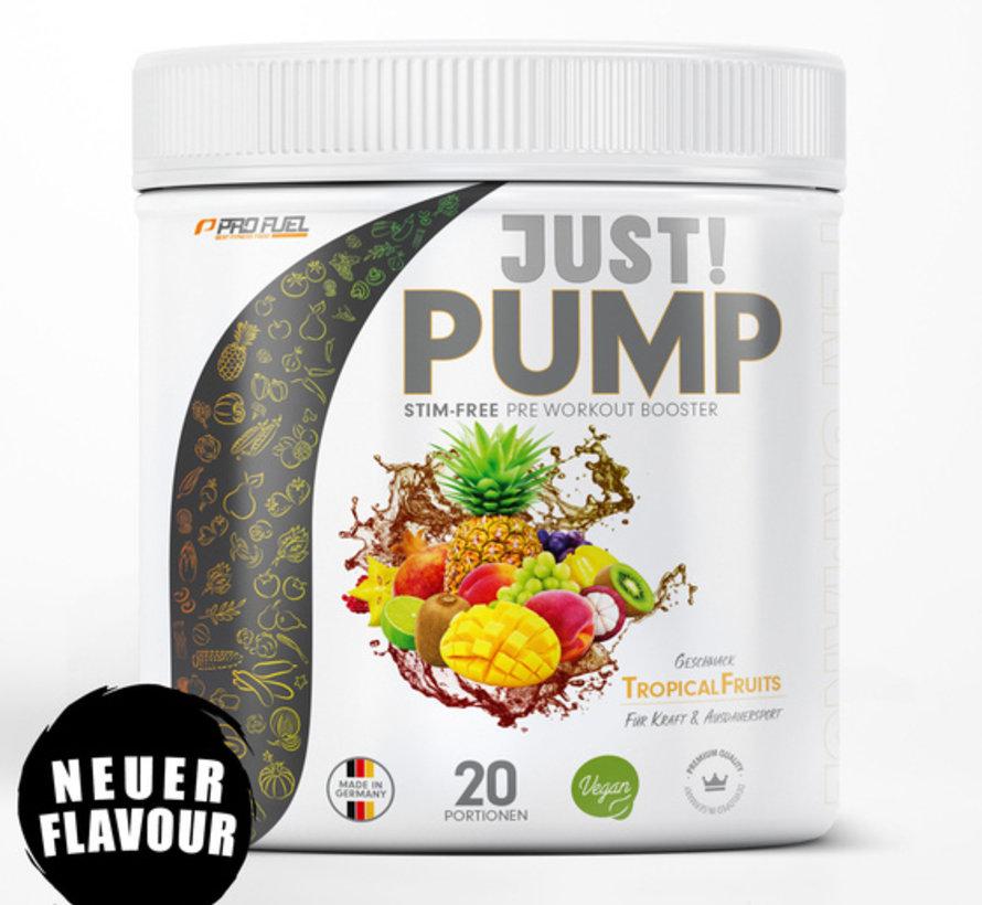 JUST! PUMP  Pump-Booster  Tropical Fruits (400 gram)