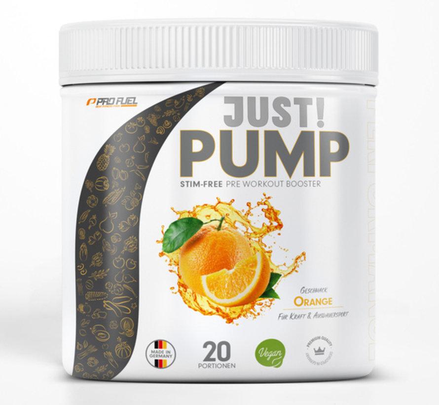 JUST! PUMP  Pump-Booster  Orange (400 gram)
