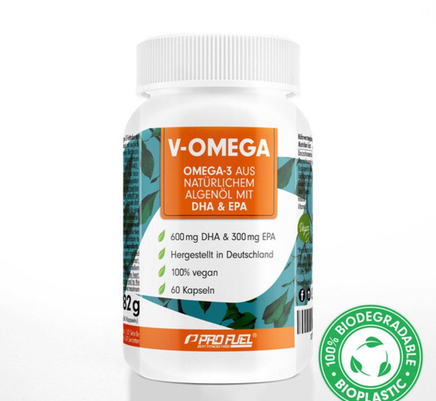 V-OMEGA Omega-3 EPA & DHA 60 Algenoliecapsules