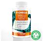 V-OMEGA Omega-3 EPA & DHA 90 Algenoliecapsules