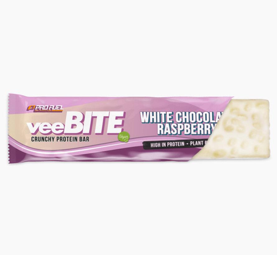 VeeBite eiwitreep witte chocolade framboos (60 gram)
