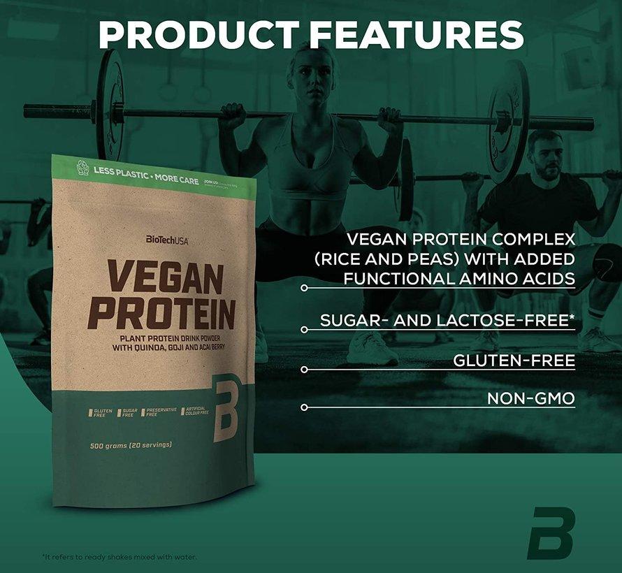 Vegan Protein eiwit, 500 gram, koffie