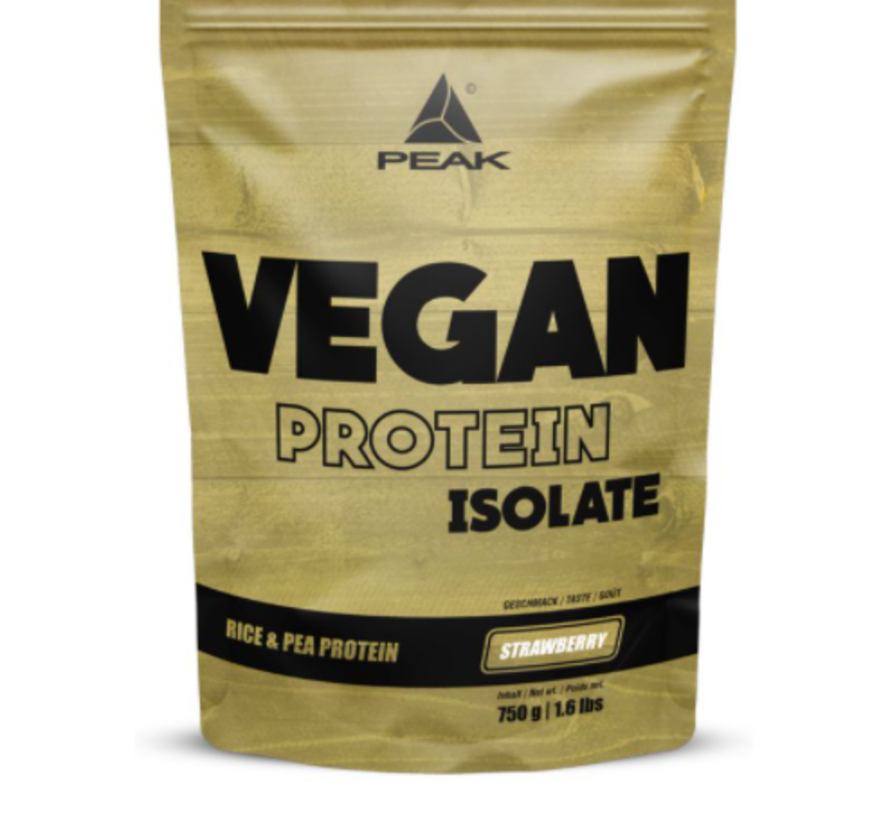 Vegan Protein Isolate eiwit 750 gram Strawberry