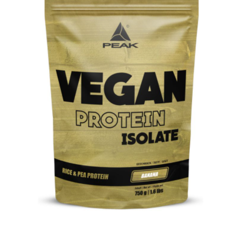 Peak Peformance Vegan Protein Isolate eiwit 750 gram Banana