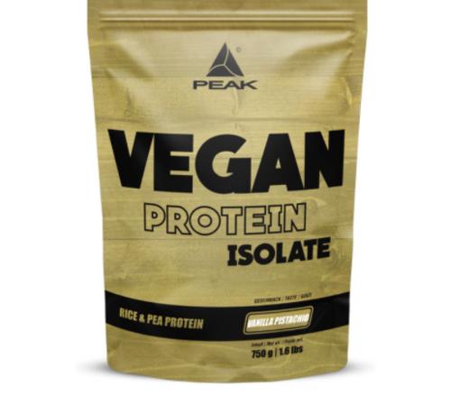 Peak Peformance Vegan Isolate eiwit 750 gram Vanilla Pistachio