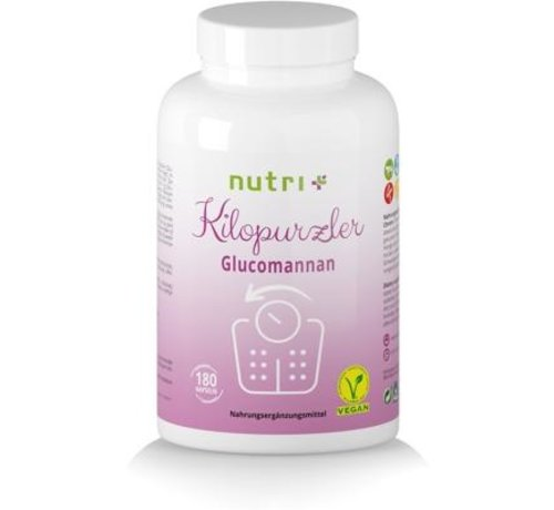 Nutri Plus Kilopurzler Glucomannaan dieet, 180 capsules