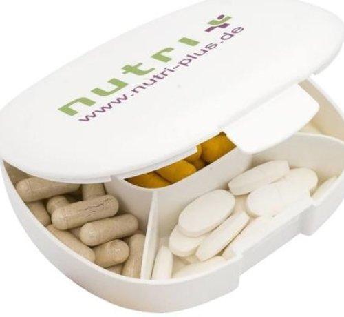Nutri Plus Pillendoosje met 5 praktische compartimenten