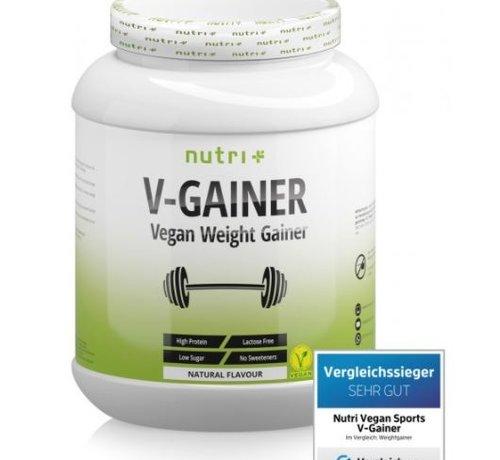 Nutri Plus veganistisch V-Gainer eiwit, neutral 2000 g