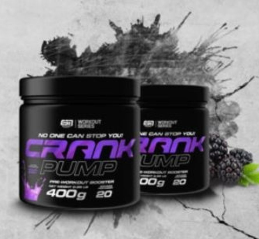 Crank Pump Pre-Workout Booster, 400 g, Blackberry