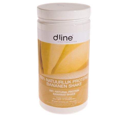 Dline Bananen proteïnedieet shake 510 gram