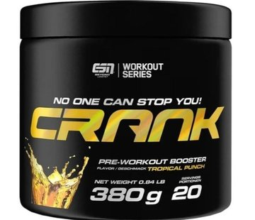 ESN  Crank Pre-Workout Booster, 380 g, Tropical Punch