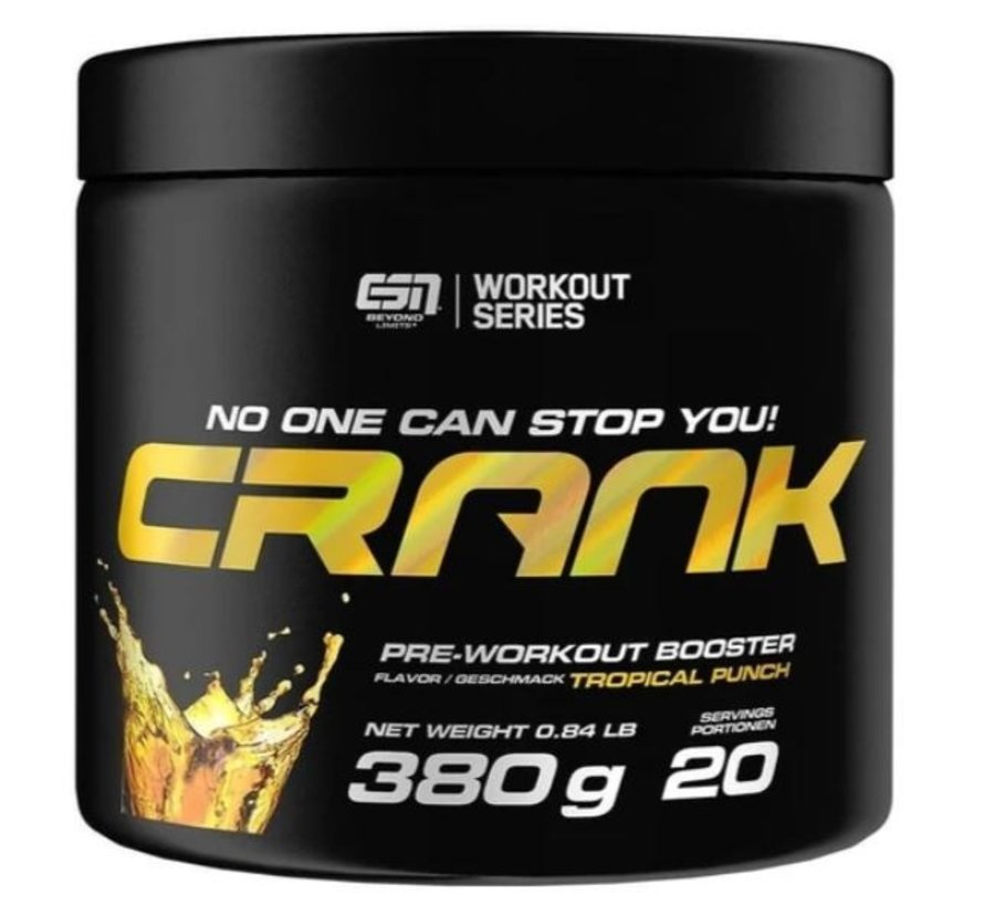 Crank Pre-Workout Booster, 380 g, Tropical Punch