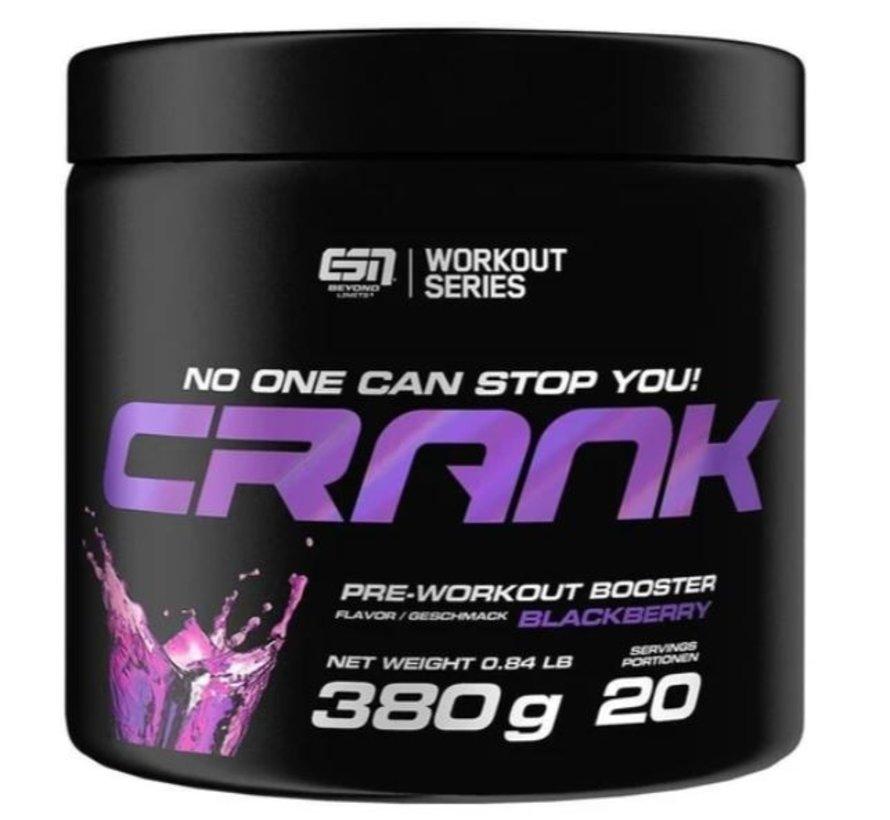 Crank Pre-Workout Booster, 380 g, Blackberry