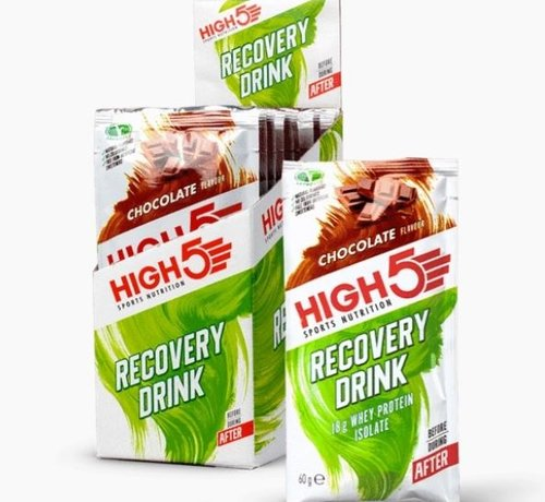 HIGH5 Recovery Drink, 9 x 60 g Pakjes, Chocolate