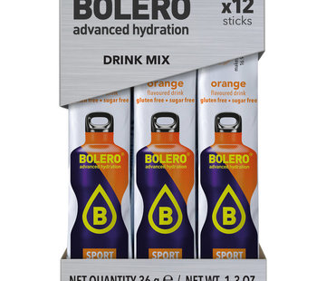 Bolero  Sticks, smaak Sport Orange (12x3 gram)
