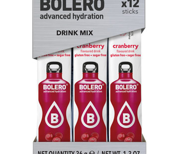 Bolero  Sticks, smaak Cranberry (12x3 gram)