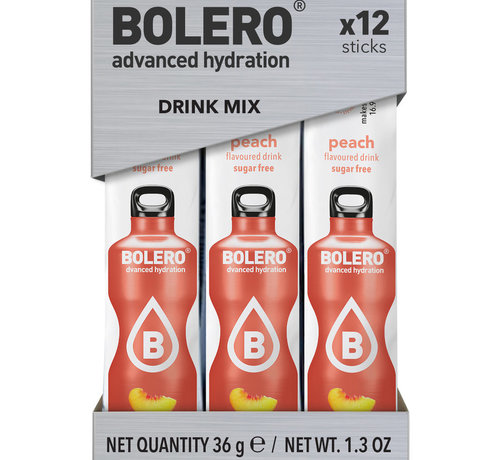 Bolero  Sticks, smaak Peach (12x3 gram)
