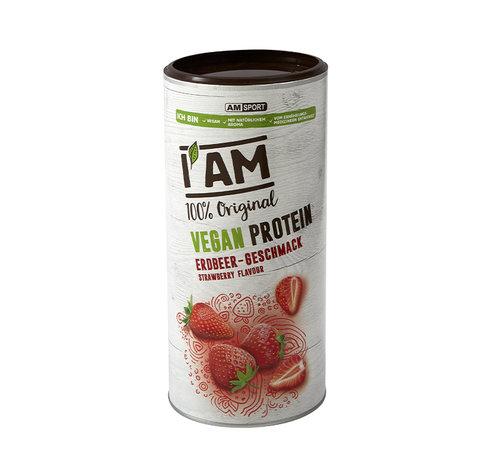 AMSPORT Vegan Protein (lactosevrij), blikje van 450 g, Aardbei