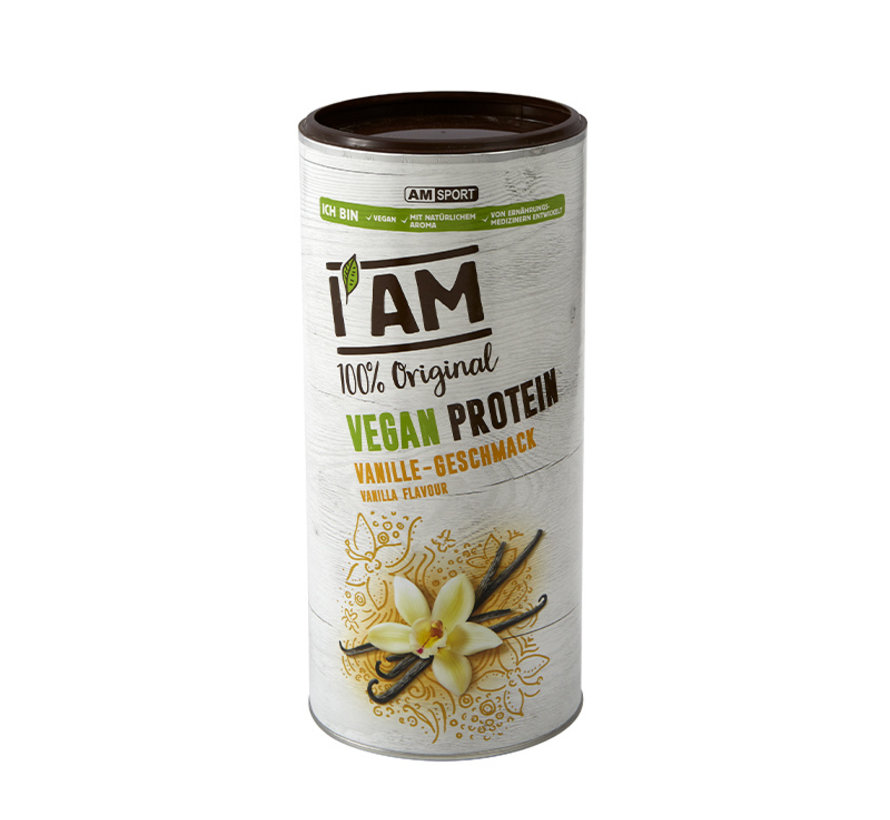 Vegan Protein (lactosevrij), blikje van 450 g, Vanille