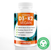 ProFuel VITAMIN D3 + K2 100% veganistisch (180 tabletten)