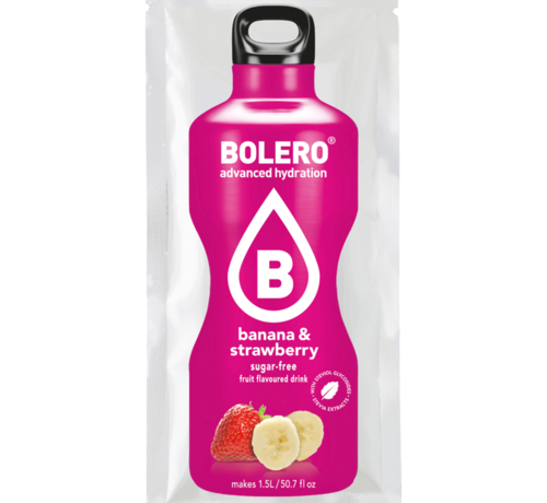 Bolero  limonade Drinks, Banana & Strawberry (1x9 gram)