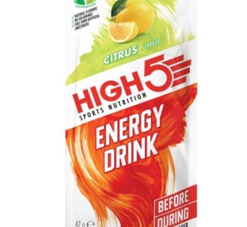 HIGH5 Energy drink zakje citrus. Isotone energydrank 47 gram.