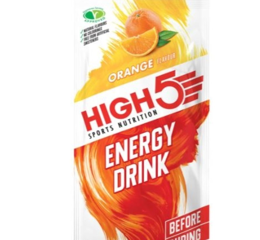 Energy drink zakje orange. Isotone energydrank 47 gram.