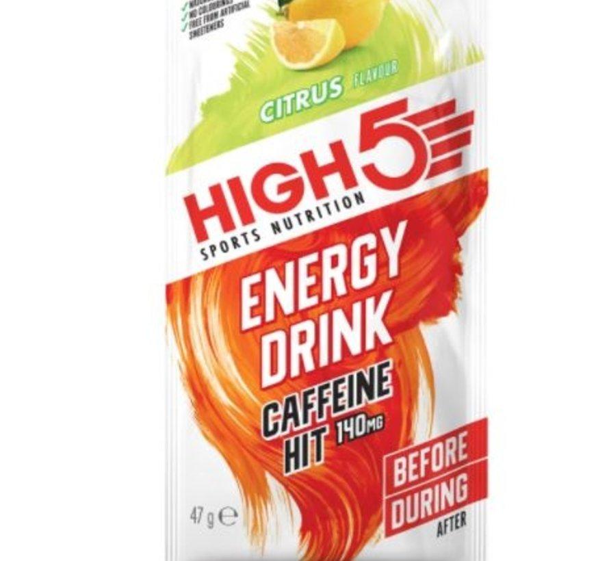 Energy drink cafeïne hit zakje citrus, 47 gram.