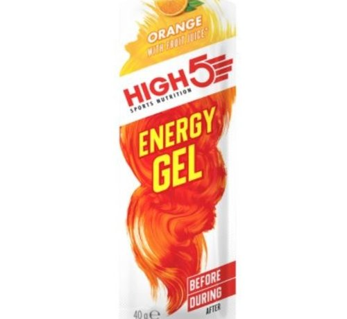 HIGH5 Energy gel sachet orange, 40 gram.