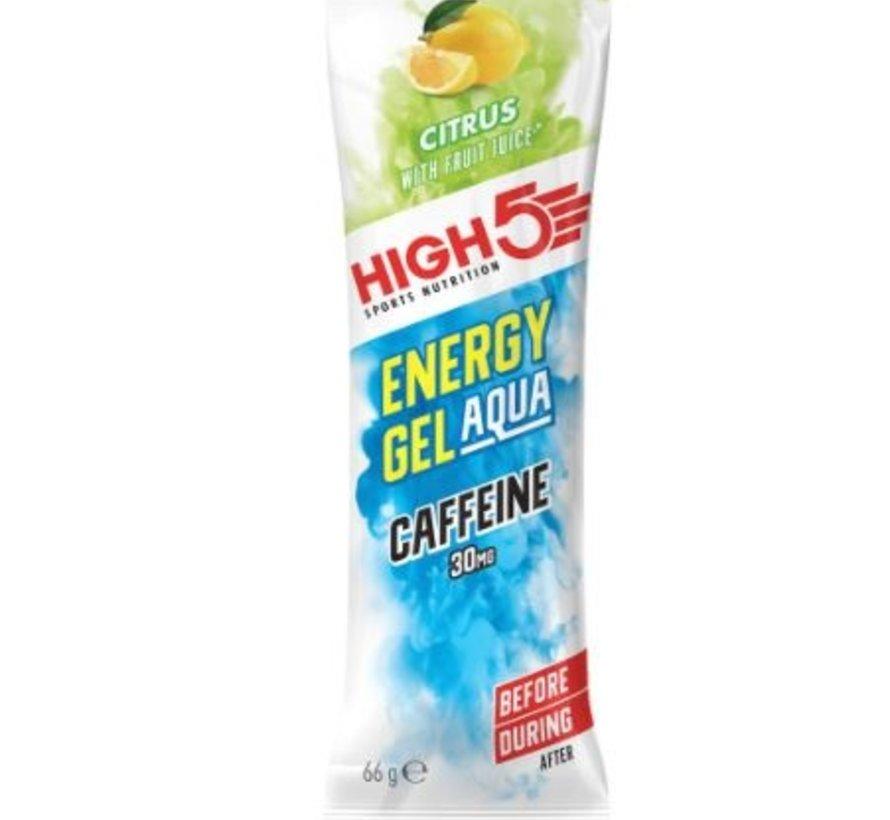 Energy gel sachet aqua cafeïne Citrus, 66 gram.