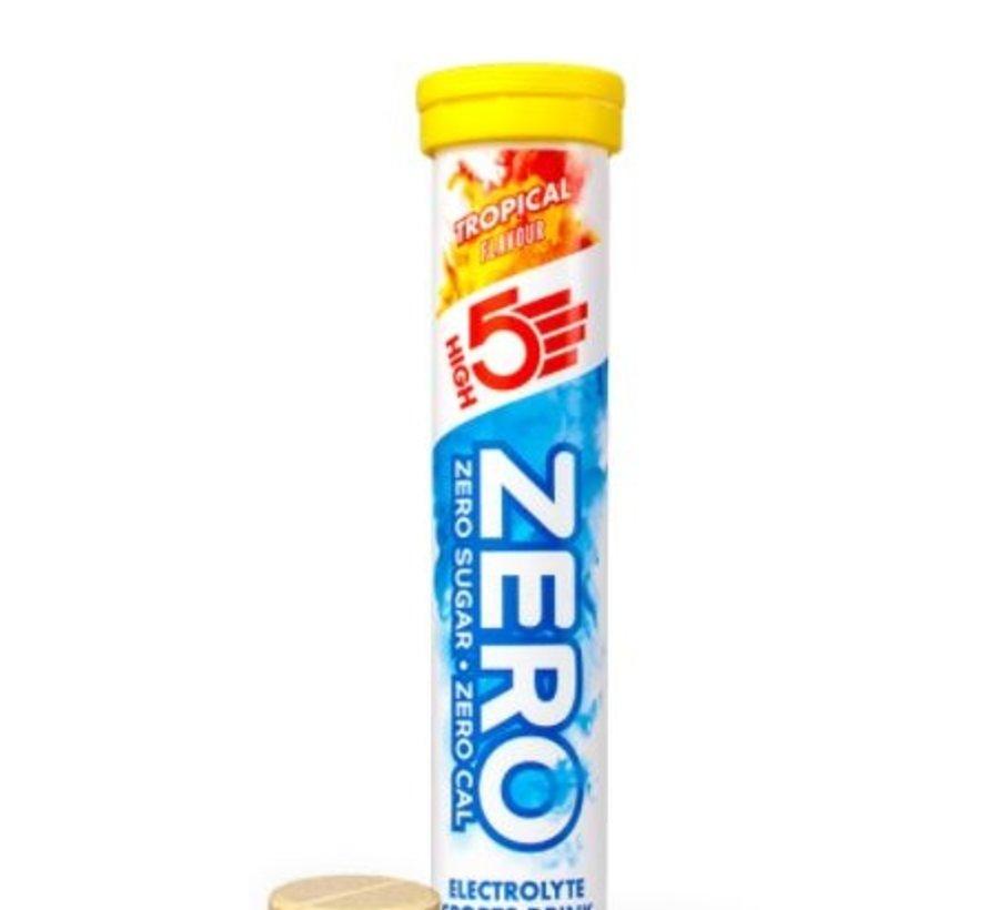 Zero active Hydration drink, 1 tube met 20 tabletten, tropical,