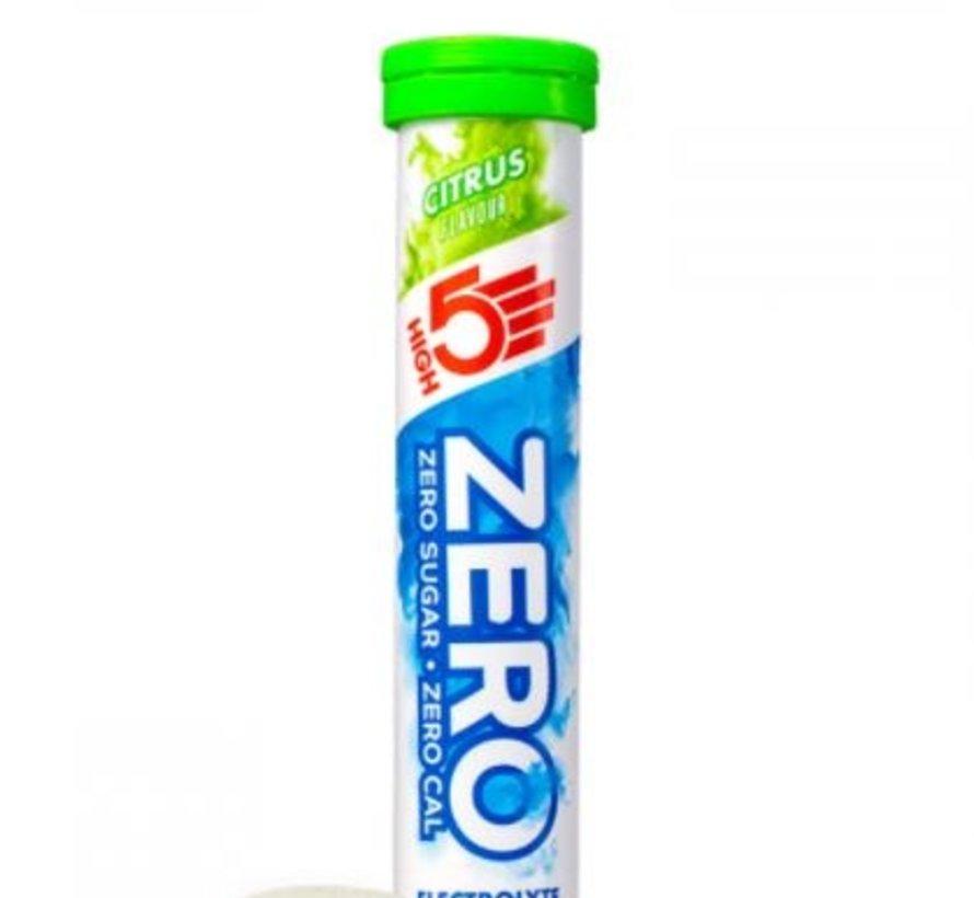 Zero active Hydration drink, 1 tube met 20 tabletten, citrus.