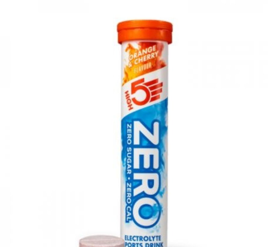 Zero active Hydration drink, 1 tube met 20 tabletten, orange & cherry.