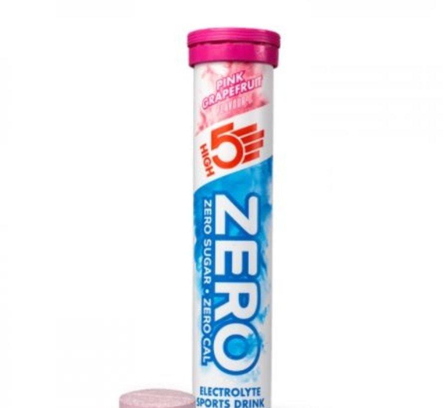 Zero active Hydration drink, 1 tube met 20 tabletten, pink grapefruit.