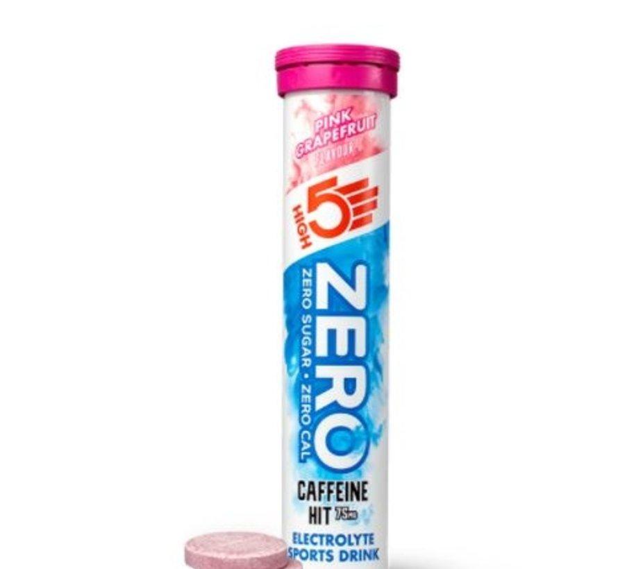 Zero active Hydration drink cafeïne hit, 1 tube met 20 tabletten, pink grapefruit.