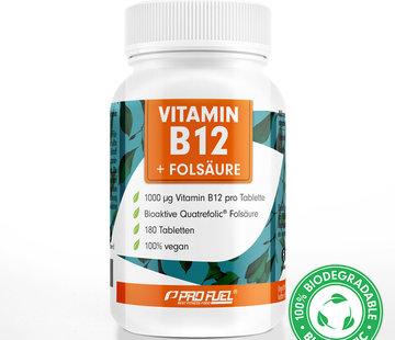 ProFuel VITAMINE B12 + FOLIC ACID  Methylcobalamine B12 & bioactief foliumzuur (180  tabletten)