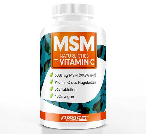 ProFuel MSM + natuurlijk Vitamine C  365 tabletten