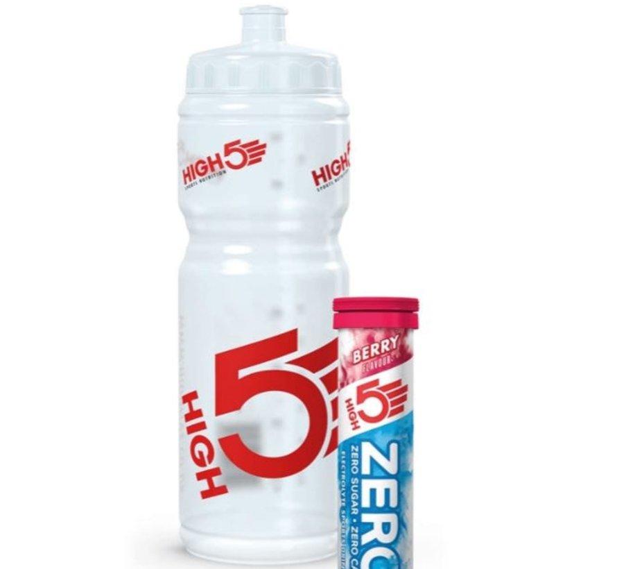 Hydration Starter Pack, Berry (Zero 10 tabs + 750 ml waterfles)