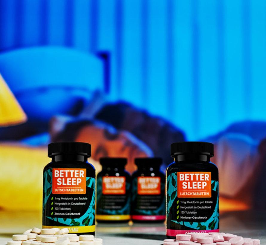 Melatonine better sleep - 120 zuigtabletten - framboos smaak