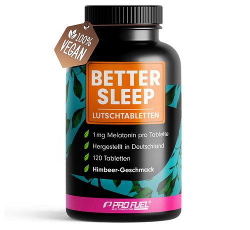 ProFuel Melatonine better sleep - 120 zuigtabletten - framboos smaak