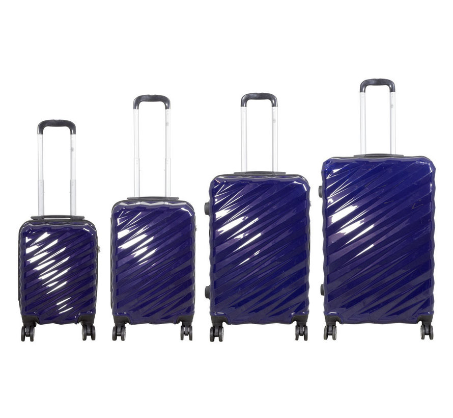 4 delig kofferset Bunker Blauw