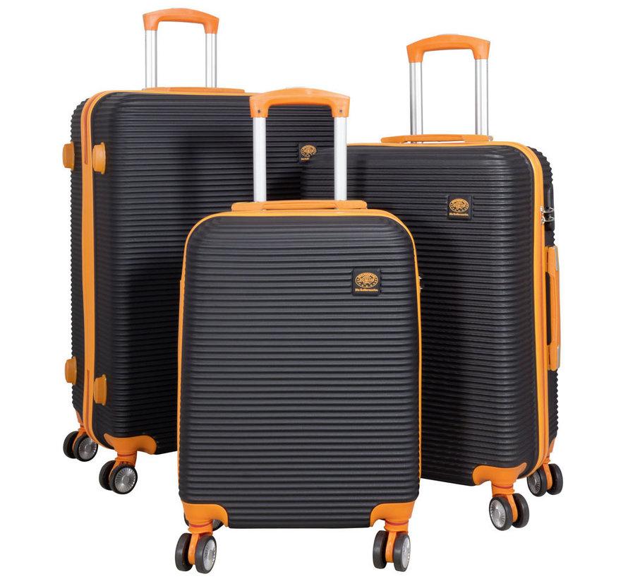 ABS bagage set 3 delig Santorini Oranje/Zwart