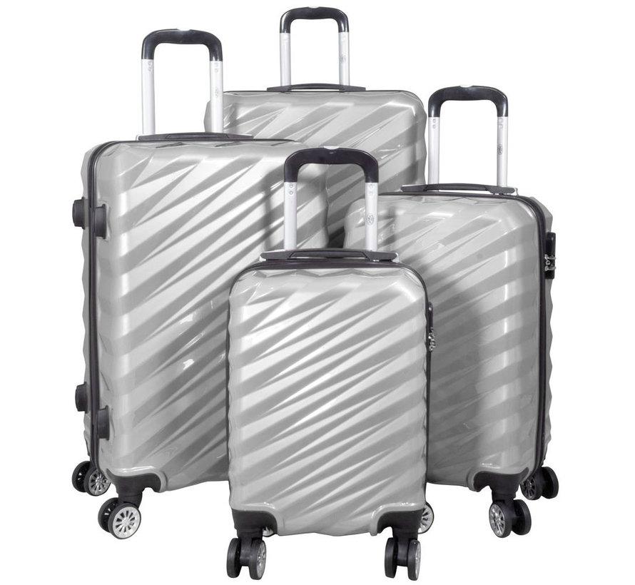 4 delig kofferset Bunker Zilver