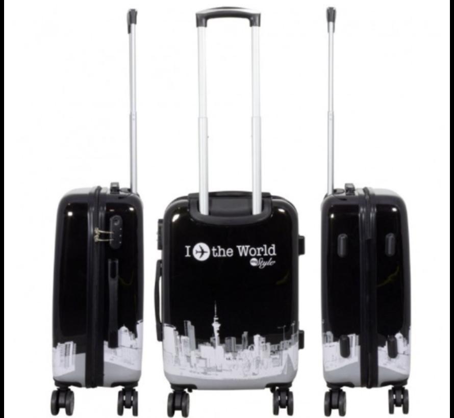 3 delig kofferset Fly The World Black