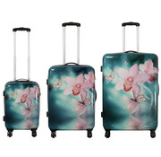 travelsuitcase 3 delig koffer set - orchidee