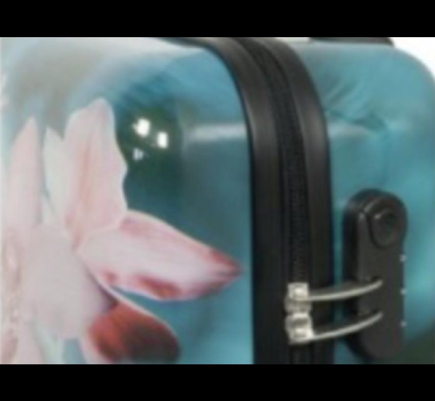 3 delig koffer set - orchidee