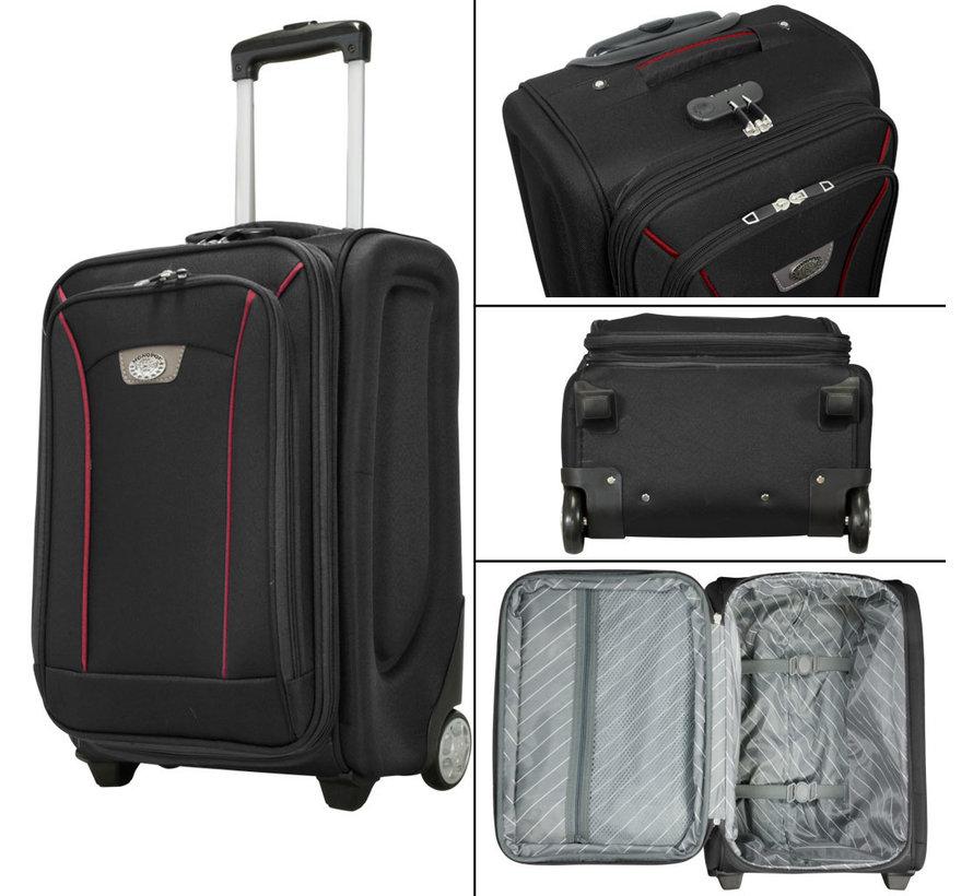 3 Delig nylon kofferset Zwart