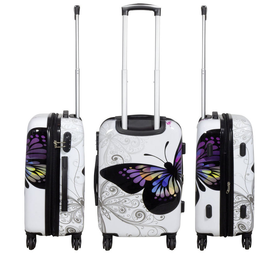 2 delig Kofferset Butterfly 67cm 55cm